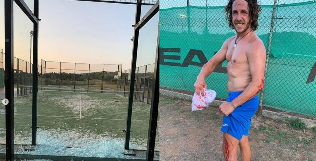 Puyol crash Padel